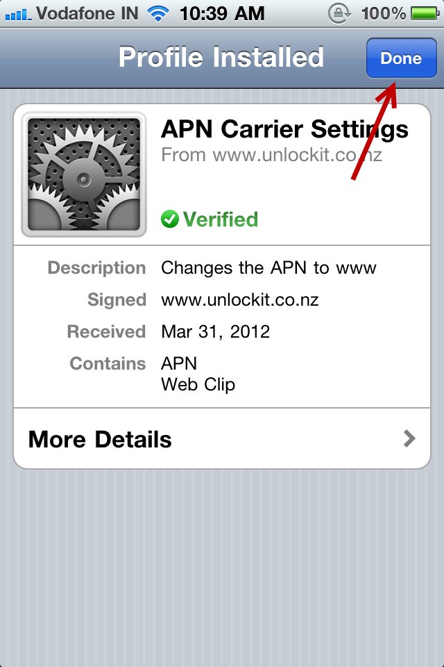 APN Carrier Settings