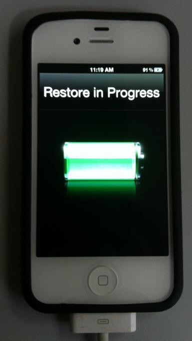 restore of data