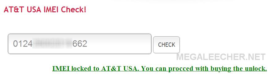 AT&T Lock Status Checker