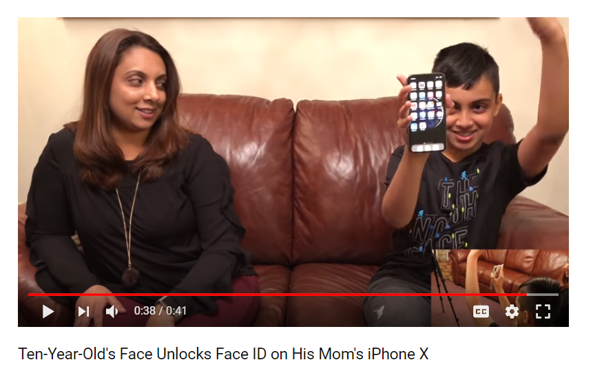 Ten-Year-Old's Face Unlocks Face ID on His Mom's iPhone X<br />