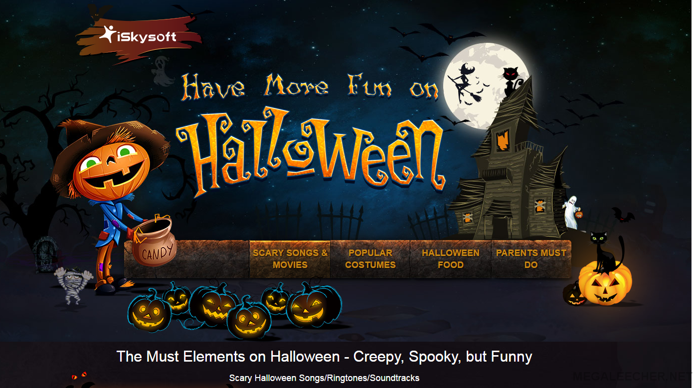 iSkysoft special offers for Halloween