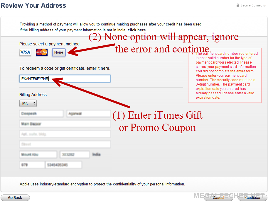 How to find and use free itunes store gift coupons to create paste itunes store code negle Image collections