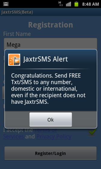 jaxtrSMS Success
