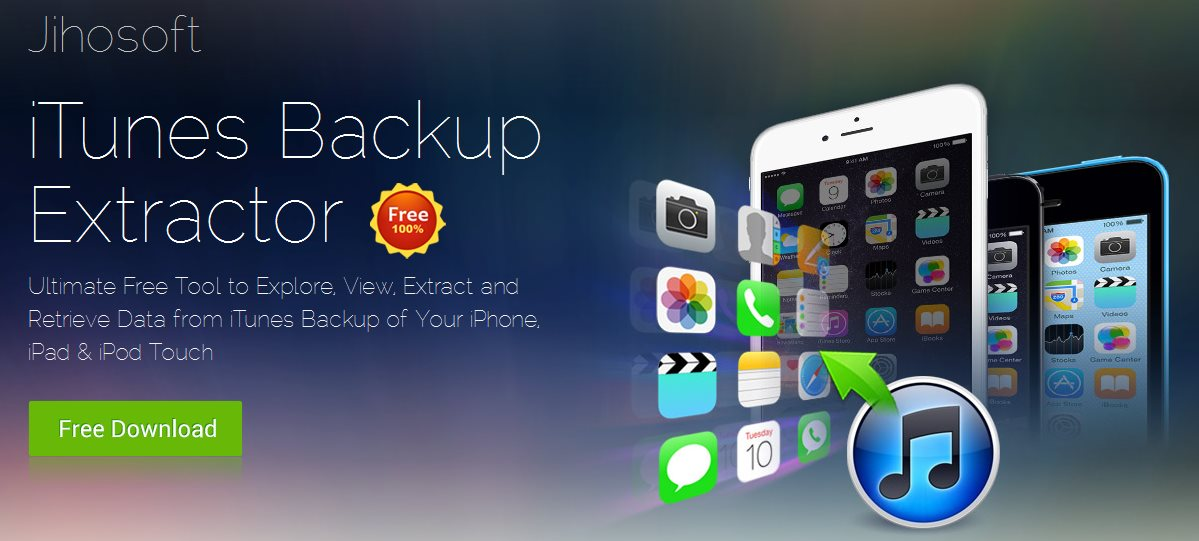 Jihosoft iTunes Backup Extractor Free