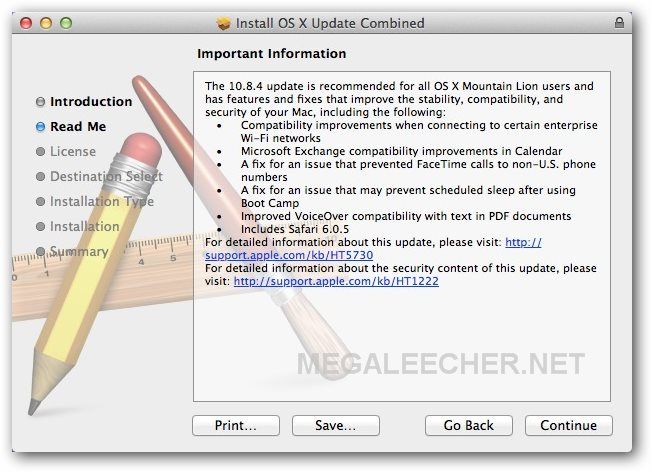 Apple OS X Mountain Lion Update v10 8 4 Direct Download