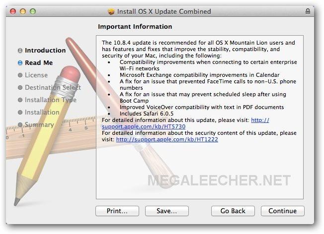 Mac OS X Combo Update 10.8.4