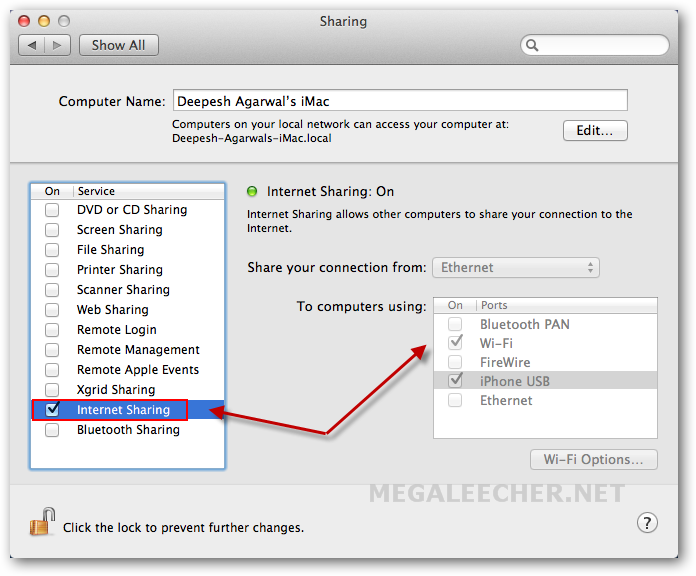 how to turn on home sharing on your imac