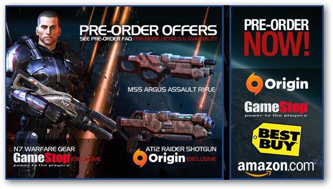 Mass Effect 3 Pre-order