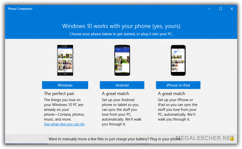 Microsoft Windows 10 Phone Companion