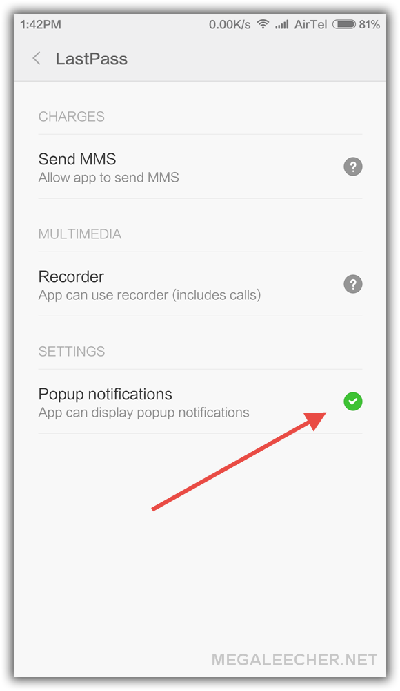 MiUI Floating Popup Windows Permission Fix
