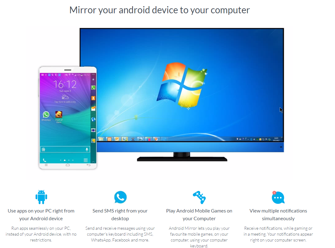 Android to PC screen mirror