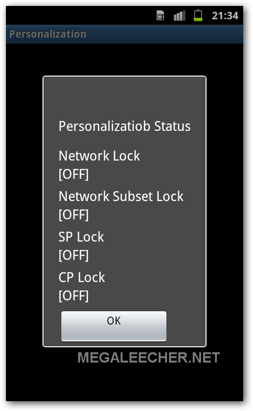 Network Lock Status Information