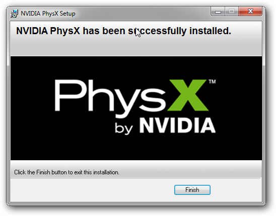 PhsyX Windows Error