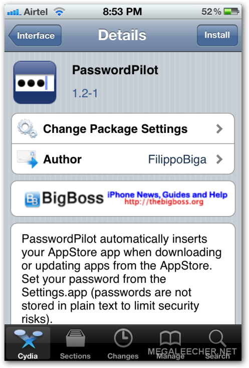 Password Pilot Cydia Tweak