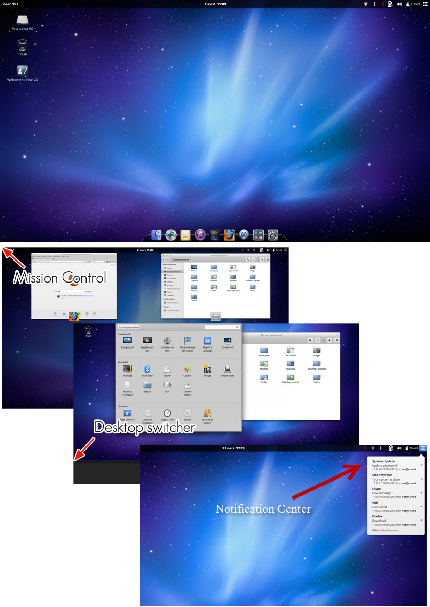 Pear OS Main Screen