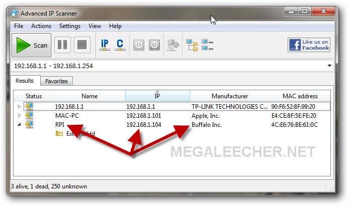 Detecting IP address of Raspberry Pi on your network | Megaleecher Net
