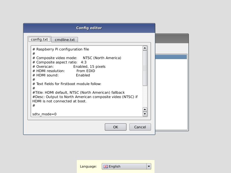 Raspi configuration editor