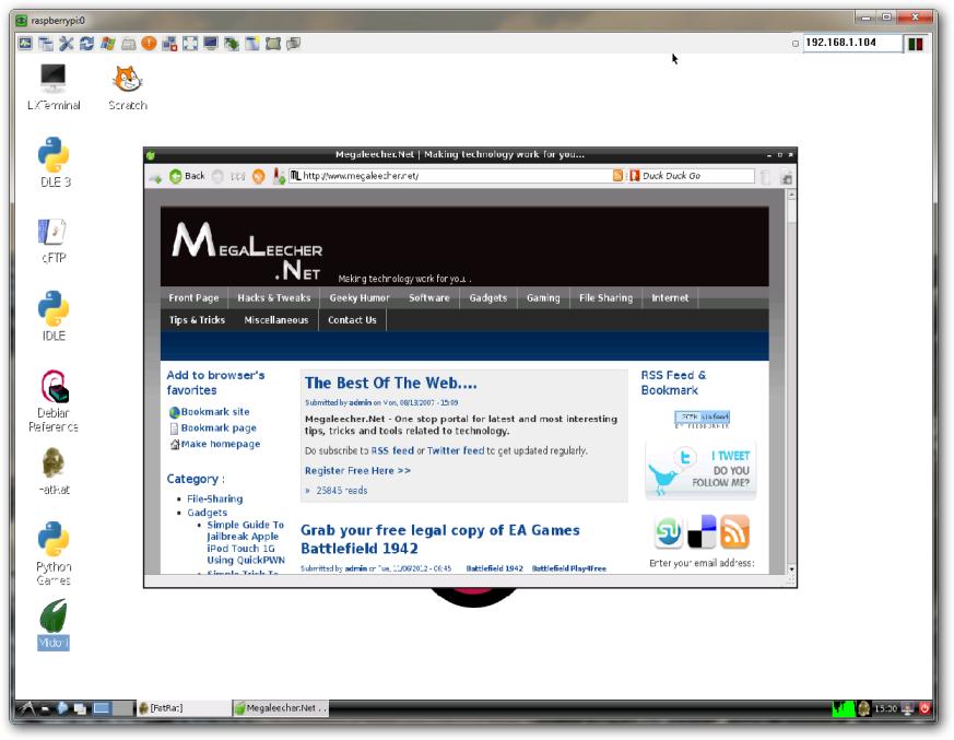 Installing VNC server on Raspberry Pi for remote desktop