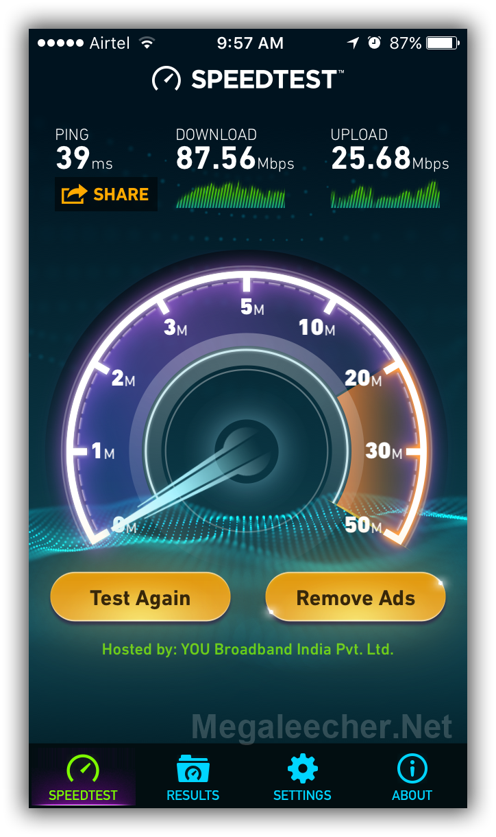 Reliance Jio 4G WiFi Access Point Speedtest.Net