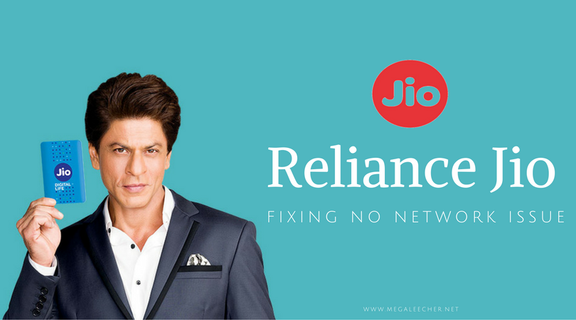 Reliance Jio Signal Issue