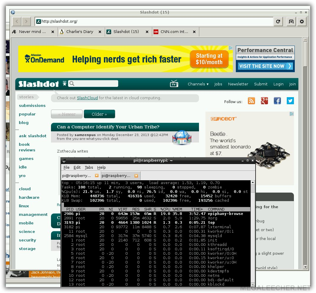 HTML5 Capable Web-browser For Raspberry Pi
