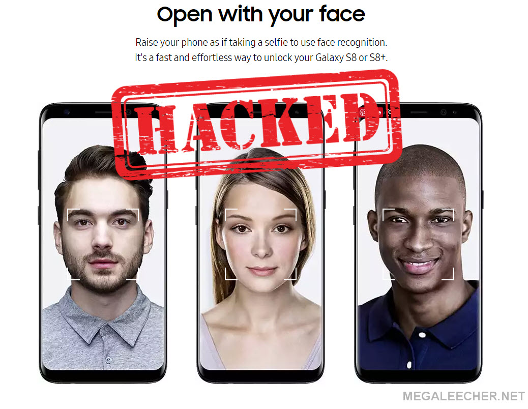 Galaxy S8 face recognition bypass hack