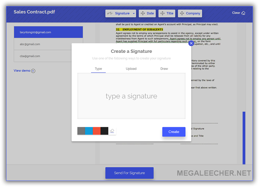 how to create an electronic signature in pdf