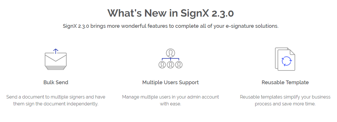SignX Main Features