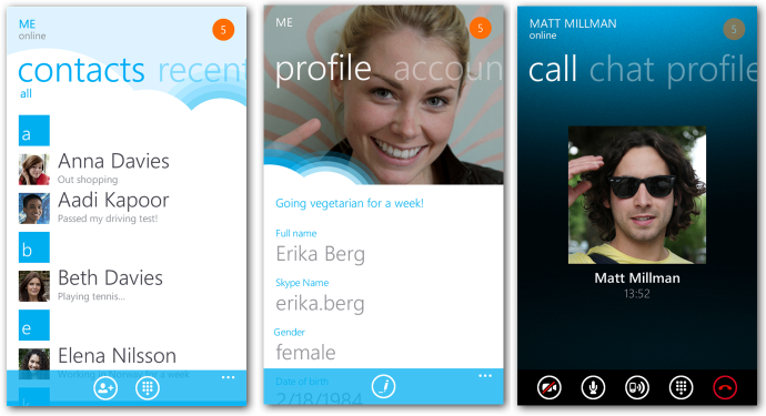 Skype For Windows Phone 7