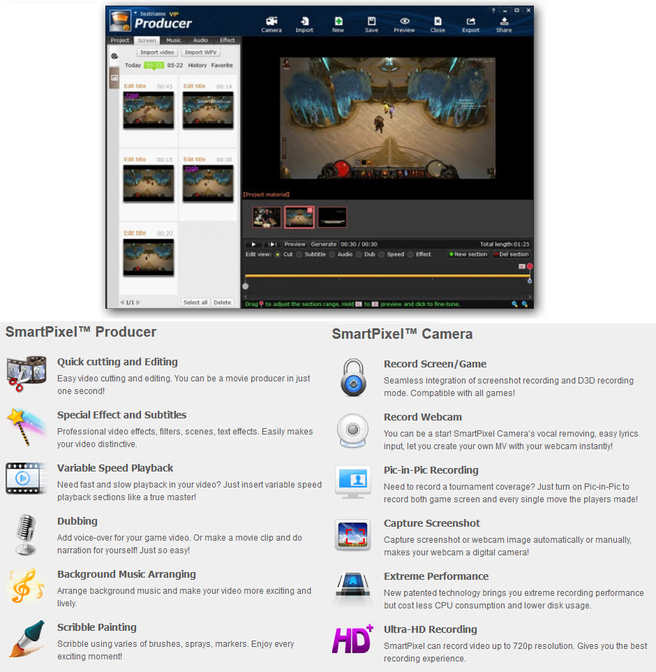 SmartPixel Free Video Editor