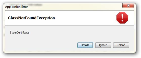 StoreCertificate Error