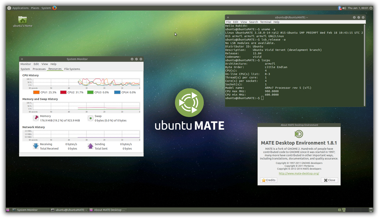 Ubuntu MATE 15.10 For Raspberry Pi 2