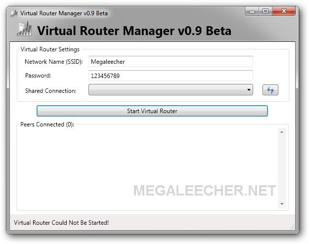 virtual router plus windows xp