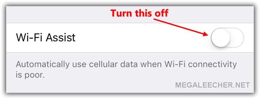 Apple iOS WiFi Assist