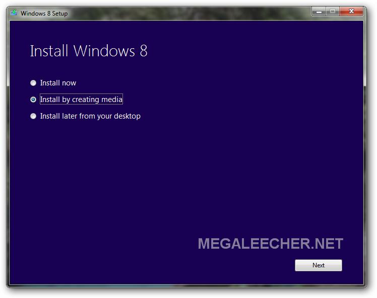 Windows 8 Install Media