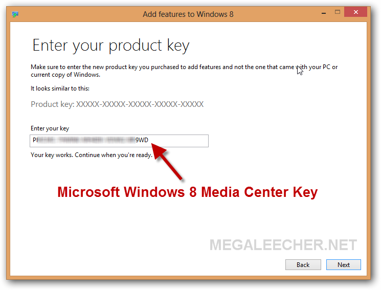 windows 8 pro with media center activation key free