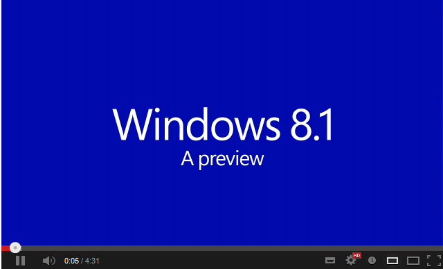 Windows 8.1 video demo