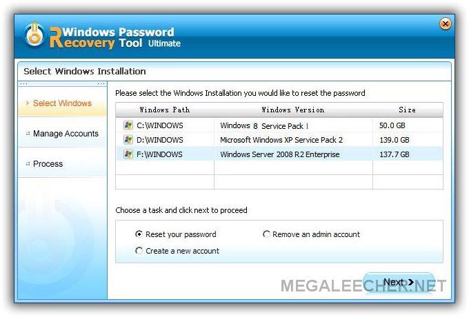 Windows Password Recovery Tool - Recover Forgotten Windows 10/8 1/8