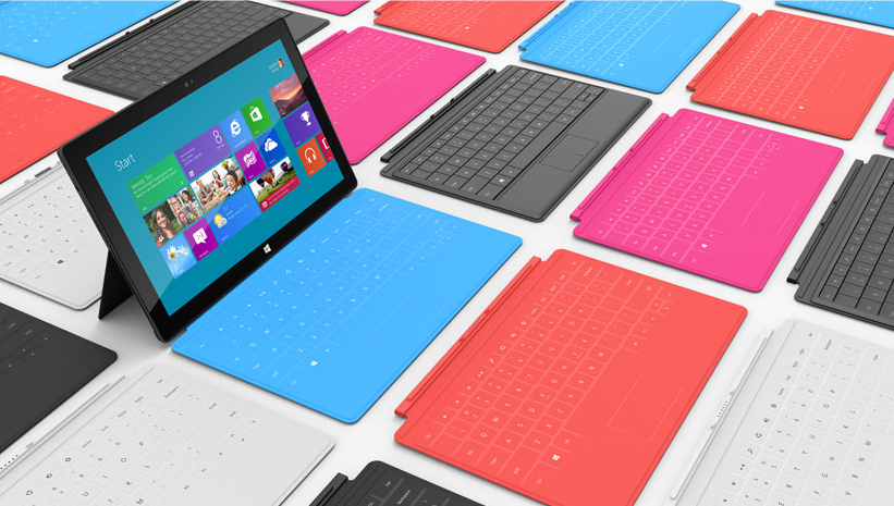 Surface keyboard colors