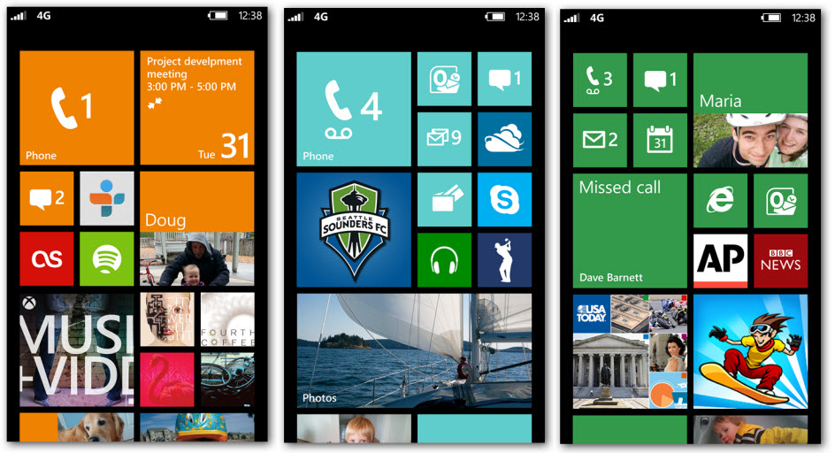 Windows Phone 8 Main Screen