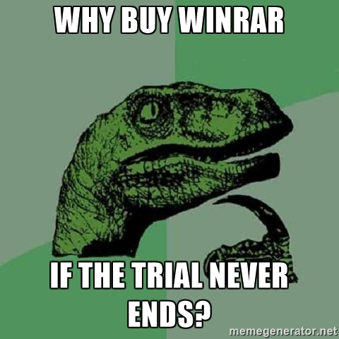 how to get winrar free trial