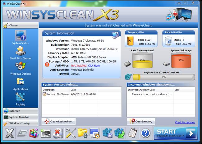 $29.95 এর 'WinSysClean X3'(all-in-one PC tune-up utility) একদম ফ্রি!! [License Limited]