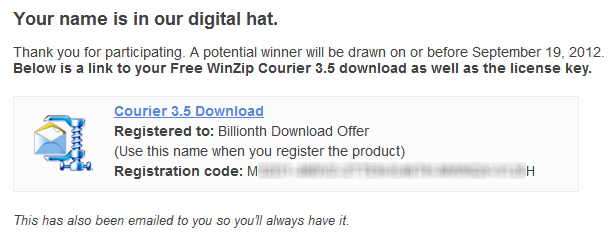 Winzip Courier Activation