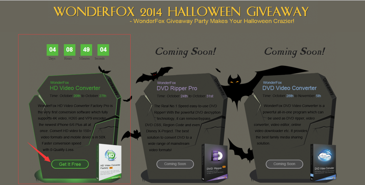 WonderFox 2014 Halloween Giveaway Party