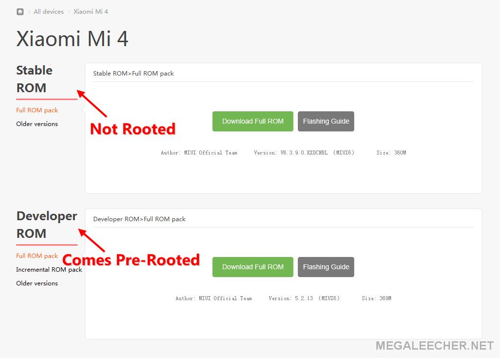 Xiaomi Mi4 ROM