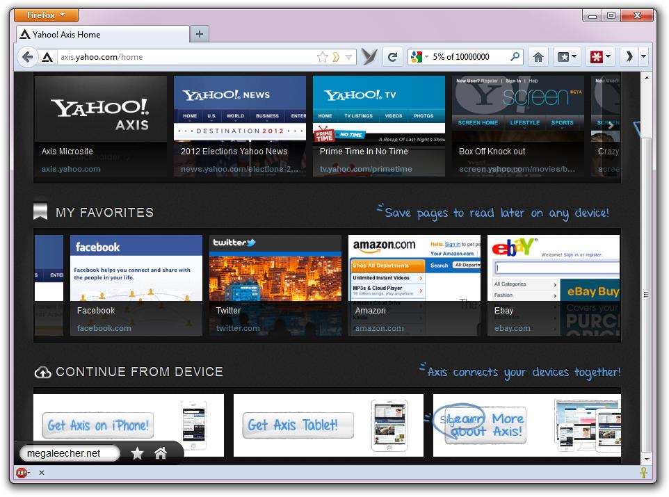 Yahoo Axis Addon