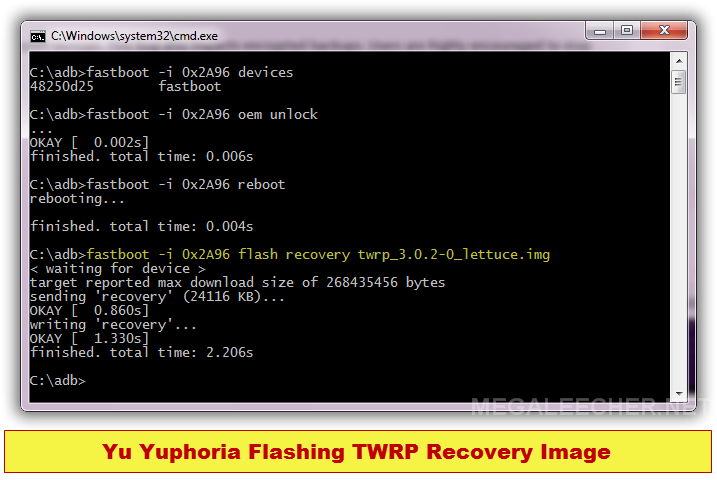 Flashing recovery image