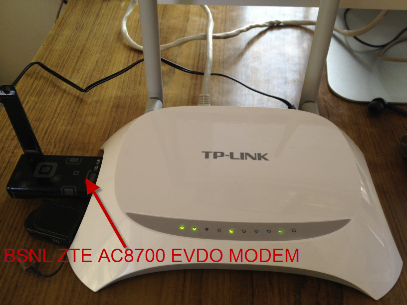 TPLINK Router And EVDO Modem