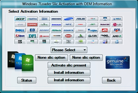 Windows 7Loader Activation Keygen