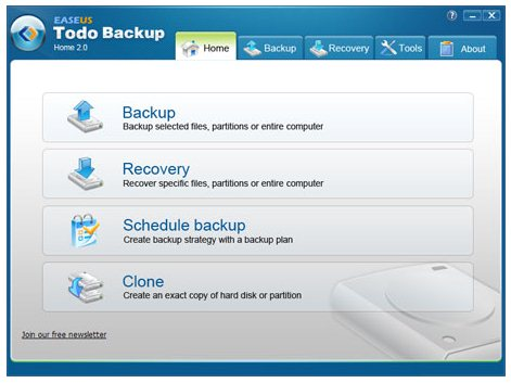 EASEUS Todo Backup Home 2.0